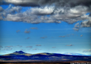 Tres Orejas as seen just above the Taos Horseshoe - copyright Nina Anthony