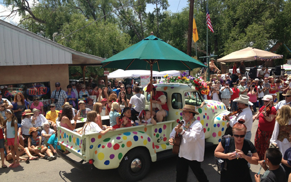 The 4th of July Parade in Arroyo Seco, New Mexico