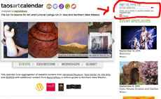BeyondTaos.com Launches Weekly e-Calendar of Taos Art Events